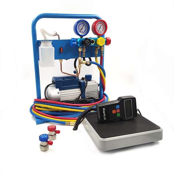 Комплект для заправки кондиционеров, compact с функцией заправки масла ОДА Сервис AC-3014